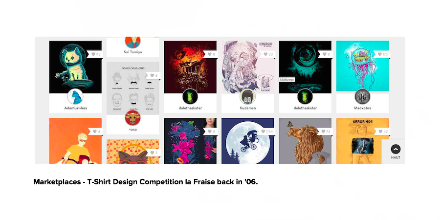 Marketplaces - T-Shirt Design Competition la Fraise
